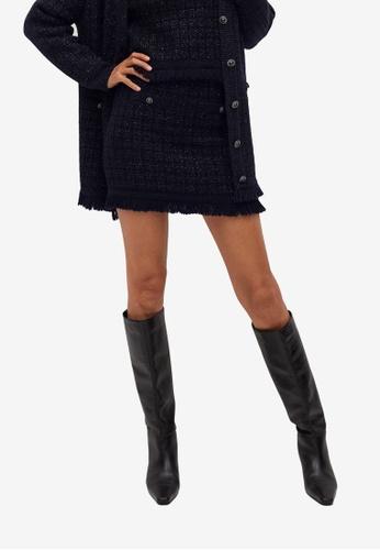 Mango blue Lurex Knit Skirt 11E31AA4FB1740GS_1