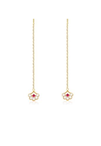 SUNSET 金色 Premium S925 Sliver Pearl Earring 47CD5AC2BB9373GS_1