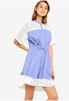 9bd5b1ca714 French Connection blue Adena Mix Shirt Dress 42D2EAA0EF3FA9GS 1 French  Connection Adena Mix Shirt Dress RM 509.00. Sizes 6 8 10 12