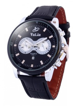 Valia Avery Leather Strap Watch 8125-1
