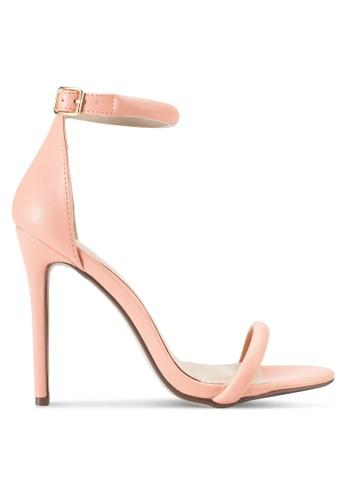 圓形鞋帶繞踝細高跟涼鞋,esprit hk 女鞋, 鞋