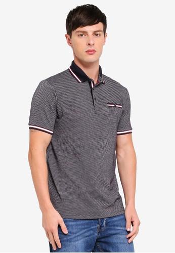 Burton Menswear London 海軍藍色 Jacquard Polo Shirt E270DAAF070A22GS_1