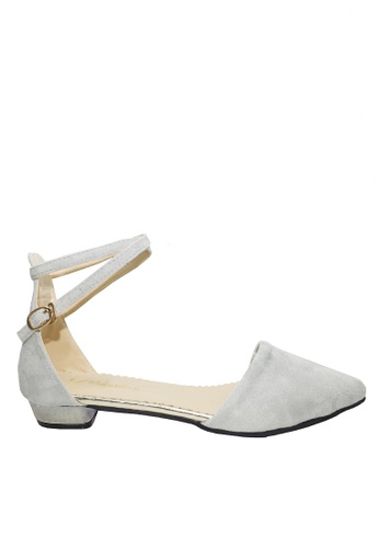 Twenty Eight Shoes 灰色 踝帶尖頭小跟鞋 VLC5 B40D1SH6C6BAB4GS_1