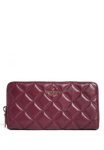 Kate Spade red Kate Spade Natalia Large Continental Wallet - Cherrywood A6D72AC66A0E88GS_1