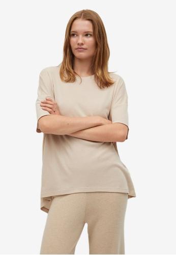 Mango grey Flowy Cotton T-Shirt D394CAACBB7DA6GS_1