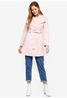8a199c8724c 60% OFF Miss Selfridge Pink O-Ring Coat RM 429.00 NOW RM 171.90 Sizes 8 10  12