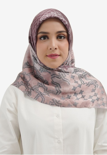 Buttonscarves purple Buttonscarves Haramain Satin Square Berry FC19AAA8F33E3DGS_1