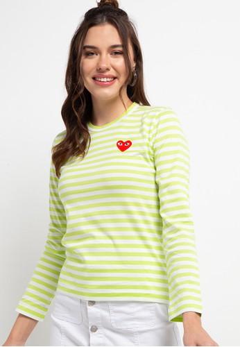 Papilion Duo green CdG PLAY Women's T-Shirt 6D16BAA59D6BECGS_1