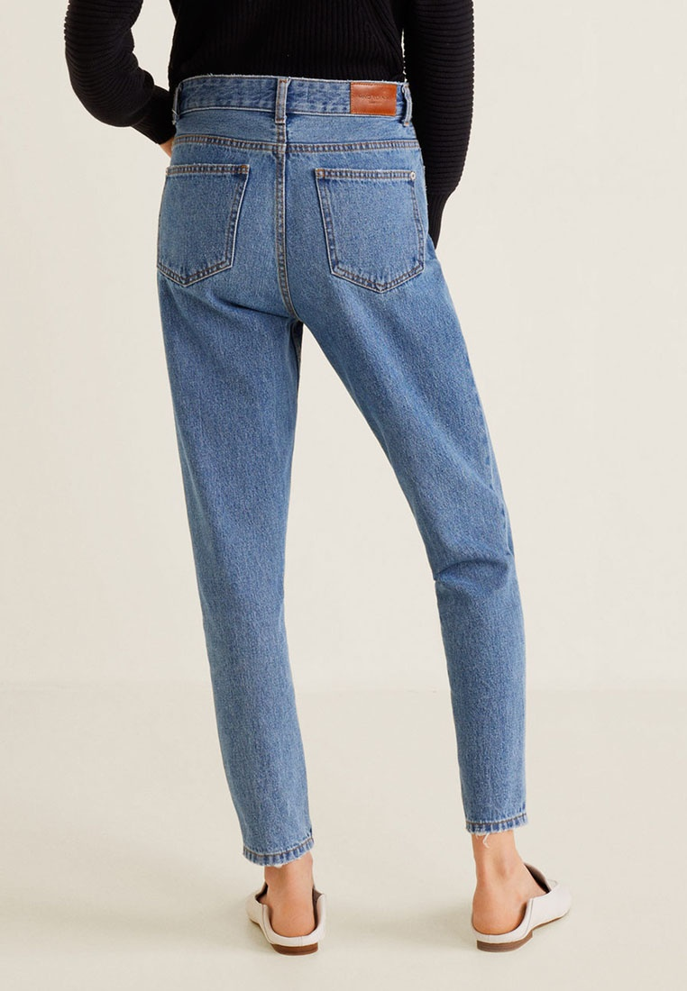 Open Mango Relaxed Blue Mom Jeans wwOqBx