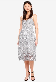 bea74648742e0 60% OFF Dorothy Perkins Mono Lace Prom Dress RM 419.00 NOW RM 167.90 Sizes  6 8 10 12 14