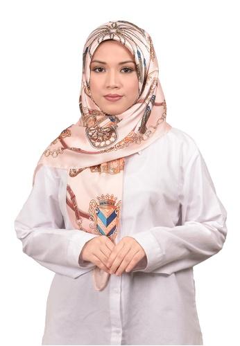 FATIMÉ multi Satin Square Hijab Ancient (Salmon) 50EE1AA147DC42GS_1