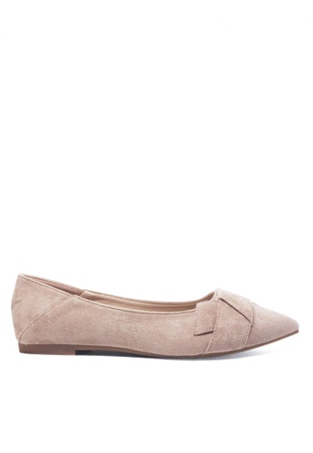 Twenty Eight Shoes beige Synthetic Suede Ballet Flats a13-t5 8D088SHCED0030GS_1