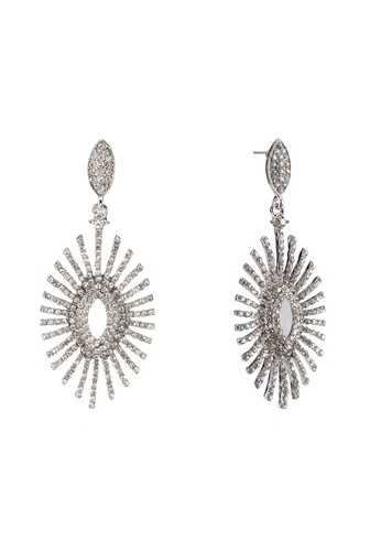 Red's Revenge white Eye of the Sun Premium Statement Earrings RE144AC0RNCEMY_1