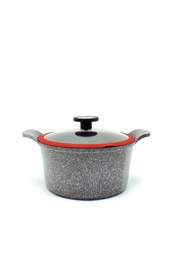 Neoflam grey NEOFLAM Pote 24cm Casserole with Xtrema Ceramic Coating (Incl. Silicone Glass Lid) B64CAHL44970EEGS_1