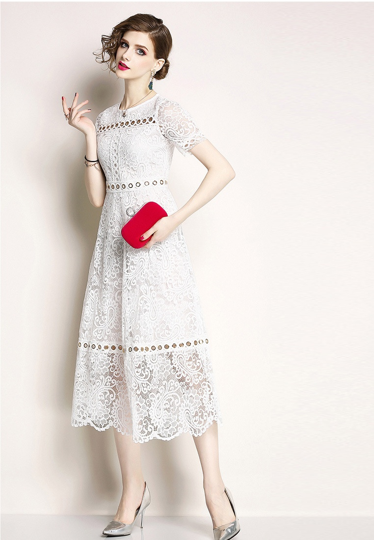 Sunnydaysweety Lace Dress White white New Piece One 2018 A060815W E0AzqC