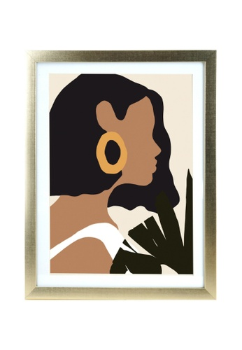 Klosh gold Matt Gold A3 Frame - Boho Woman Portrait 07336HL994111EGS_1