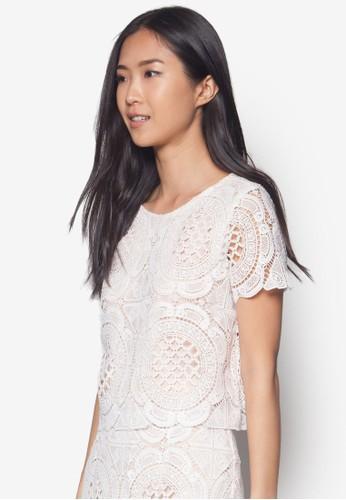 Premesprit台北門市ium蕾絲罩衫, 服飾, 上衣