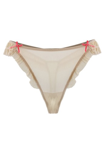 LAVABRA Intimates beige Very Sexy Panty - Dream Angels Super Comfy Modal Double Band Thong LA387US39SMMID_1