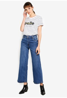 acf54508475d75 Cotton On High Waist Wide Straight Jeans Rp 499.900. Ukuran 6 8 10 12 14