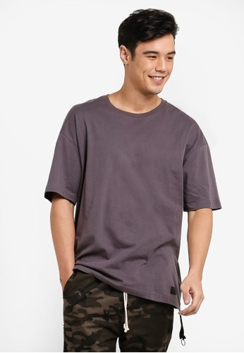 Flesh IMP grey Ryan Oversized Box Cut T-Shirt FL064AA76WZFMY_1