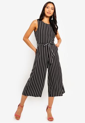 1e41743a06d Shop Mela London Stripe Culotte Jumpsuit Online on ZALORA Philippines
