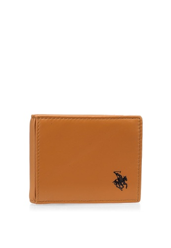 Swiss Polo brown RFID Money Clip Wallet 96CCFACF5E6400GS_1