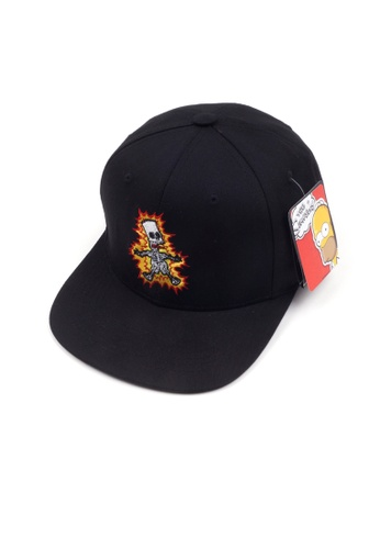 M-Wanted black M. The Simpsons Series Baseball Cap - Bart  gets electrocuted A3648ACA578494GS_1