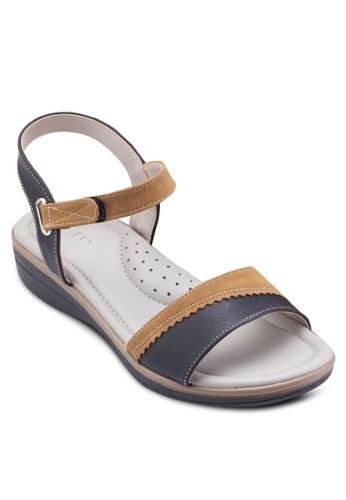 拼esprit官網色繞踝涼鞋, 女鞋, 鞋