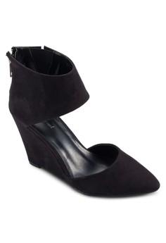 Ankle Wrap Suede Wedge Heels