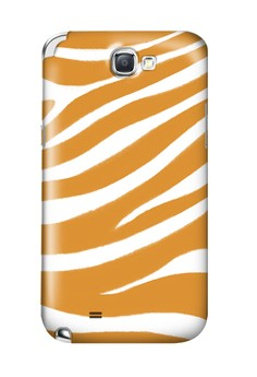 Orange Zebra Print Glossy Hard Case for Samsung Note 2