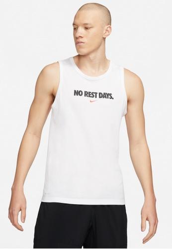 Nike white Men's Dri-Fit No Rest Days Tank AD663AAF2E55C5GS_1