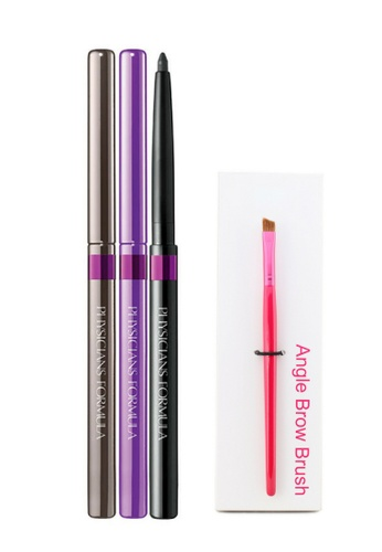 Physicians Formula Eyeliner : [Physicians Formula Official] Shimmer Strips Custom Eye Enhancing Eyeliner Trio - Hazel  (FREE x1 Angle Brow Brush) PH385BE92KAHMY_1