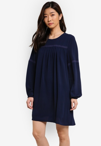 ZALORA navy Yoke Trim Detail Dress 90EF7AA253DBE4GS_1