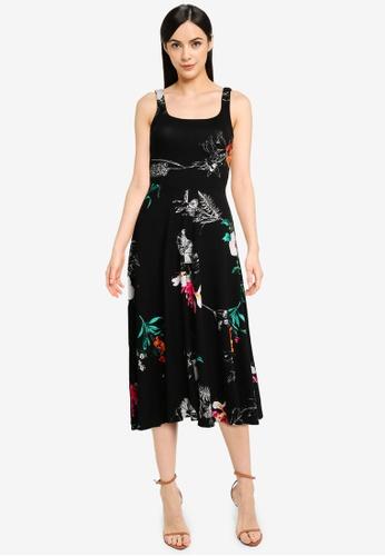 Desigual black Floral Tank Dress 0C0B5AA795F85BGS_1