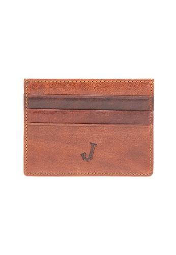 Jack Studio brown Jack Studio Leather Slim Card Case 3F4BDACAFDDDEFGS_1