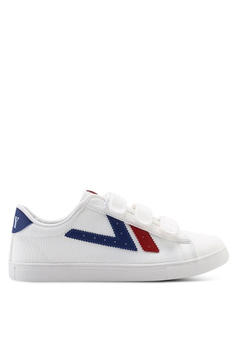 Kolca white and red and blue Swallow Sneakers 514EBSH6410DBDGS_1