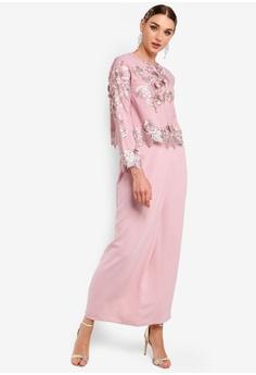 31fabc5de8d5 Zalia Embroidered Lace Double Layer Dress RM 235.00. Sizes XS S M L XL