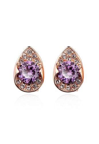 OUXI purple OUXI Earrings 20916 (Purple) OU821AC27DNKMY_1