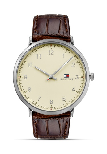 Tommy Hilfiger Watches brown Men's Leather Strap Watch TO959AC0JXO5PH_1