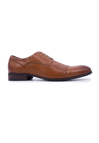 Hanson Bootmaker brown Hanson Bootmaker Lace-up Derby with Toe Cap - Tan 95CC7SH7188C00GS_1