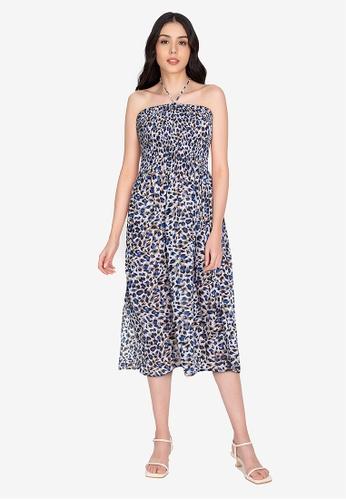 Chictees blue Melissa Tube Dress FDE6FAAD3AF262GS_1