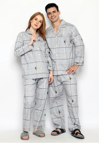Greet Night Wear grey Greet Night Wear Copule Set K-409 / PTPK Couple 85E29AA351EFABGS_1
