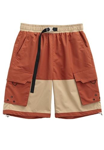 Twenty Eight Shoes Contrast Panel Cargo Shorts 3007S20 1592AAA7E13954GS_1