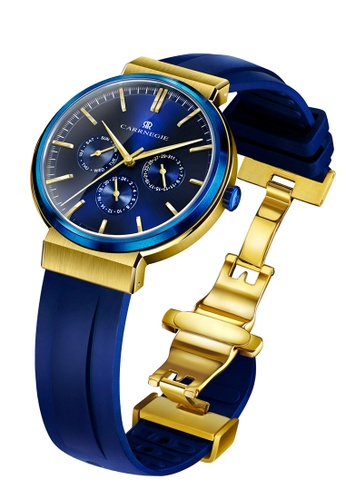 Carrnegie Watches blue and multi and gold Carrnegie Watches Sports Blue Gold 6DAA4ACB0618AEGS_1