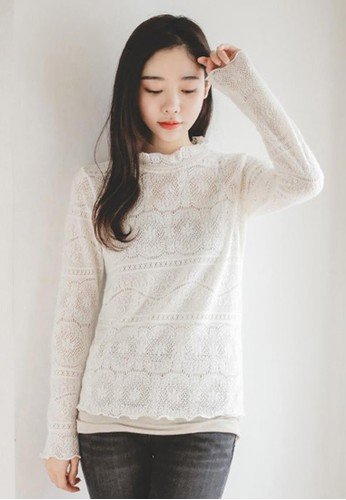 可愛蕾絲T恤, 服esprit hong kong飾, T恤