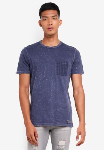 Abercrombie & Fitch 海軍藍色 Tie Dye T-Shirt BE0E4AA83FE430GS_1