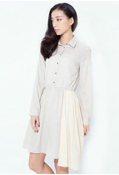 Side Drama Chiffon Dress
