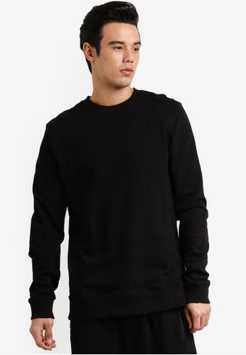 Cotton On 黑色 Crew Fleece Sweatshirt CO372AA0RCPZMY_1