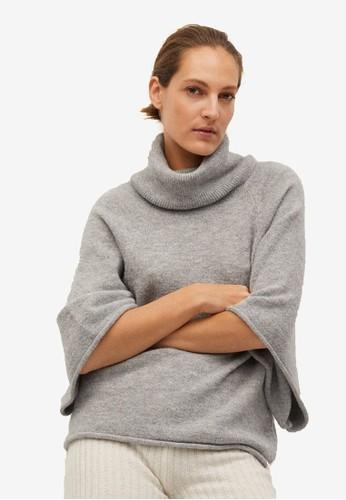 Mango grey Oversize Knit Sweater 09A13AA7219186GS_1