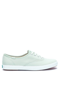 4902adddb1e Keds green Champion Solids Solid Tone Lace Up Sneakers DCB86SH354D94CGS_1